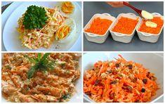 Francúzsky mrkvový šalát Potrebujeme: mrkva – 4 stredné kúsky Vajcia uvarené natvrdo a vychladené – 4 menšie ks Tvrdý syr Ementál – 200 gramov Cesnak – 2 strúčiky. Na zálievku: Majonéza a kyslá smotana v rovnakom pomere + 1 lyžička dijonskej horčice Príprava jednoduchého francúzskeho šalátu: Všetky prísady sa sa nastrúhajú na strúhadle. Osolíme, okoreníme... Ethnic Recipes, Food, Essen, Meals, Yemek, Eten