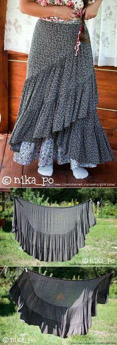 Ярусная юбка - бохо