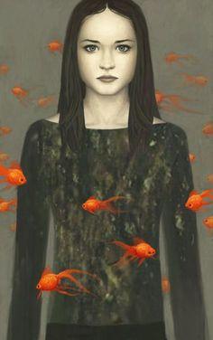 Pisces: the Fish, Ken Wong illustrations. Portrait Art, Portraits, Ken Wong, Magic Realism, Fish Art, Pablo Picasso, Surreal Art, Oeuvre D'art, Fantasy Art