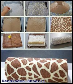 Zürafa desenli kek