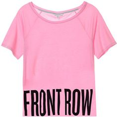 Victoria's Secret Fashion Show Off-the-shoulder Tee ($13) ❤ liked on Polyvore featuring tops, t-shirts, shirts, short sleeves, pink, pattern t shirt, oversized graphic tee, graphic shirts, oversized t shirt and oversized shirt