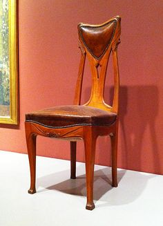 Side Chair by Hector Guimard 1900, who also designed the entrances to the Paris Metro in an Art Nouveau style.