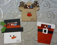 My Stamp Journey Creations: Adorable Christmas Gift Card Holders Christmas Gift Card Holders, Cute Christmas Gifts, Xmas Cards, Holiday Crafts, Gift Cards Money, Craft Show Ideas, Winter Cards, Card Tags, Homemade Cards