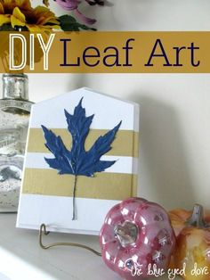 Easy DIY Leaf Art fo