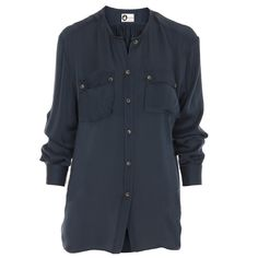 Hirshleifers - Lanvin - Double Front Pocket Blouse (Blue), $1,475.00 (http://www.hirshleifers.com/ready-to-wear/tops/lanvin-double-front-pocket-blouse-blue/)  Beautiful Basic!  #Hirschleifers