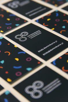 Wizytówki // Jubileusz 80-lecia Dominikańskiego Duszpasterstwa Dominikańskiego (1937/38 - 2017/18). Projekt: Justyna Czyżak. Druk: Drukarnia Krüger Plus, Poznań. Foto: Krzysztof Nowak.