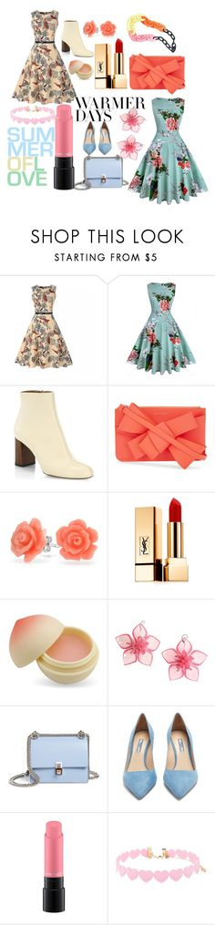 """""""Warmer days"""" by jessestibbe ❤ liked on Polyvore featuring Chloé, Delpozo, Bling Jewelry, Yves Saint Laurent, TONYMOLY, Dsquared2, Fendi, Prada, MAC Cosmetics and Forever 21"""