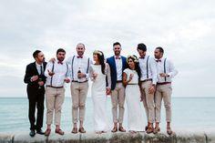 20 Beach Wedding Looks for Grooms & Groomsmen   SouthBound Bride   http://www.southboundbride.com/well-groomed-the-beach-wedding   Credit: Beck Rocchi/Jack London via Nouba
