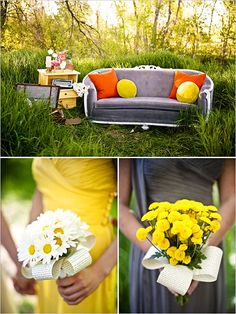 Who knew the best color scheme ever could be Yellow & Grey? #gardenparty!