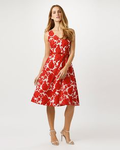 Phase Eight Poppy Burnout Dress Red