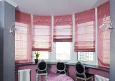 Римские шторы на эркер  #window #interior #shades #romanshades #romanblindes