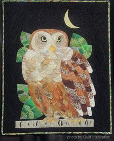 """Nite Owl"" by Sharon Hightower (California). 2014 Pacific International Quilt Festival, photo by Quilt Inspiration"