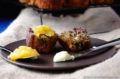 Blueberry Beet Honey Oat Muffins