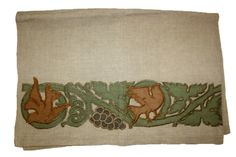 Godfrey Blount (1859-1937) - Table Scarf. Embroidered Linen with Appliqués and Linen Thread. England. Circa 1895-1900. Haslemere Educational Museum, Haslemere, Surrey, England.