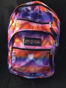 Jansport Tie Dye Student School Backpack Purple Blue Orange Hipster Laptop 5 POC | eBay