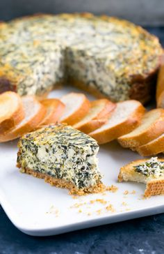 This restaurant inspired savory spinach artichoke cheesecake is the perfect party appetizer! This scrumptious spread can be made in the oven or Instant Pot! Make Ahead Appetizers, Appetizers For Party, Wine Appetizers, Cheese Appetizers, Ricotta, Instant Pot, Savory Cheesecake, Cheesecake Recipes, Feta