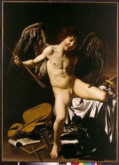 L'Amour vainqueur  Le Caravage, Merisi da Caravaggio Michelangelo (v 1571-1610)