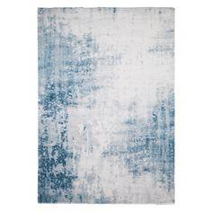 Hochflorteppich Beau Cosy - Mischgewebe - Grau - Blau / Grau - 160 x 230 cm, Fredriks