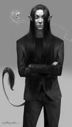 Why not to dress a fantasy guy in Armani suit? by *ChristinZakh on deviantART