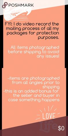 . I have listened to many experienced sellers and buyers and this is a great tip (the 2 photos listed above).  There have been discrepancies between the actual item being purchased and mailed-ex: some buyers having buyers remorse and damaging the product upon receiving the item-maybe people don't like it-too big-too small or just changed their minds!  Thank you!!!!! . Other