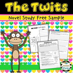7 page FREE novel study sample for The Twits. Includes student work for Chapters a cause and effect activity, and all answer keys. Roald Dahl Activities, Reading Activities, Teaching Reading, Guided Reading, Roald Dahl The Twits, Cause And Effect Activities, Figurative Language Activity, Free Novels, Vocabulary Activities