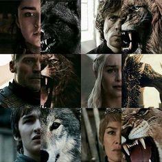 Lions, wolves, & a dragon.