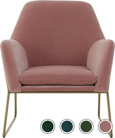 Frame Armchair, Blush Pink Cotton Velvet from Made.com. Soft curves and a sleek contemporary shape are integral to the charm of our Frame armchair. ..