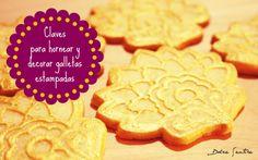 Claves para hornear y decorar galletas estampadas {Video Tutorial}  {Tips for Decorated Embossed Cookies with Video Tutorial}  #videotutorial #tutorial  #cookies #galletas #embossedcookies