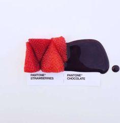 Pantone fresa y chocolate