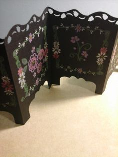 Folding Screen Card with Black Magic by julikkers - Cards and Paper Crafts at Splitcoaststampers
