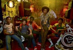 Both celebrities and unknowns appear in the cast. From left: Tremaine Brown Jr., a New York rapper discovered busking on the subway; Justice Smith; Moore; Jaden Smith; and Skylan Brooks.