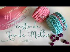#1 CESTO DE FIO DE MALHA (Ponto Baixo Centrado) - Fundo - YouTube Crochet Stitches, Macrame, Diy And Crafts, Crochet Necklace, Knitting, Fabric, Youtube, Pattern, Handmade