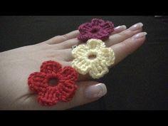 Blume häkeln - einfach und schnell - 5 Blätter - YouTube