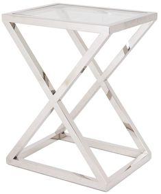 RV Astley Nico Stainless Steel Side Table