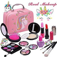 Little Girl Makeup Kit, Makeup Kit For Kids, Kids Makeup, Unicorn Bedroom Accessories, Toys For Girls, Kids Girls, Makeup Toys, Makeup Case, Fake Nails For Kids