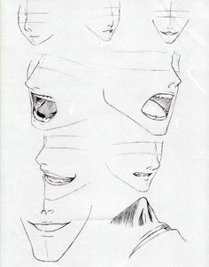 Anime male mouth and nose sketch coloring page Manga Nose, Manga Mouth, Anime Mouth Drawing, Guy Drawing, Drawing Sketches, Art Drawings, Sketching, Sketch Nose, Sketch Mouth