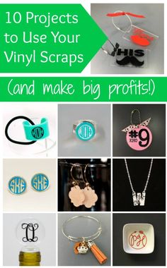 Have a box of vinyl scraps in your Silhouette Cameo or Cricut small business? Get some help using them up - for big profits! Plotter Silhouette Cameo, Silhouette Vinyl, Silhouette Machine, Silhouette Cameo Projects, Cricut Vinyl, Cricut Air, Cricut Help, Inkscape Tutorials, Cricut Tutorials