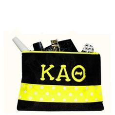 Kappa Alpha Theta Small Cosmetic Bag