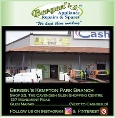 Looking for an appliance repair company in the Kempton Park area? Youll find us at Shop 23 The Cavendish Glen.