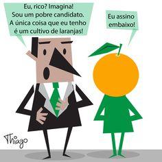 Resultado de imagem para laranja harge