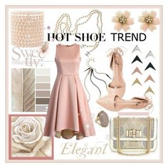 A fashion look from October 2015 featuring dressy cocktail dresses, Forever 21 and pink lace up flats. Browse and shop related looks. Shoe Trend, Lace Up Flats, Hot Shoes, Pink Lace, Ava, Christian Louboutin, Lemon, Forever 21, Chanel
