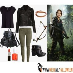 Spot on Katniss Everdeen, and very appropriate with #CatchingFire coming up! Style #DIY costumes with this super fun, easy tool (WiShi). It's a styling website where you style people's real clothing in their virtual closets. #Fashion #Style #Costume #Halloween Connect via Facebook for free in seconds. ♥