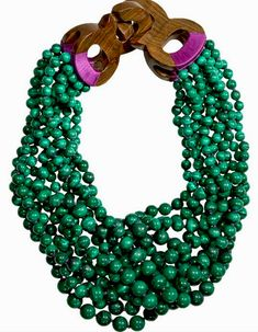 patricia von musulin/ multi strands of malachite beads with hand carved wood closure Jewelry Box, Jewelry Accessories, Fashion Accessories, Jewelry Necklaces, Fashion Jewelry, Jewelry Design, Beaded Necklace, Jewelry Making, Jewellery