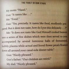 The Fault In Our Stars funny quote