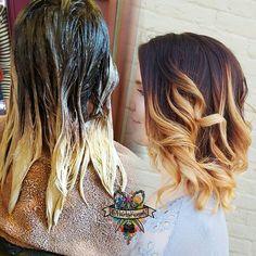 Zee melt #JackWinnColor @jackwinncolor #brazilianbondbuilder #b3 #behindthechair #modernsalon #beautylaunchpad #hotonbeauty #americansalon #colormelt #hairpainting #hairporn #hairbykaseyoh