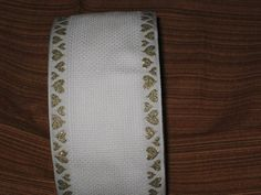 Aida embroidery band white with heart edge in gold 7 meter Gold, Cross Stitch, Etsy, Embroidery, Worth It, Do Your Thing, Heart, Nice Asses, Crossstitch