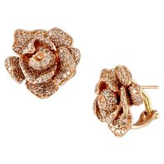 Effy Jewelry Effy Nature 14K Rose Gold Diamond Flower Earrings, 1.38... (164.575 RUB) ❤ liked on Polyvore featuring jewelry, earrings, diamond flower earrings, flower jewellery, 14 karat gold jewelry, pink gold earrings and rose gold diamond earrings