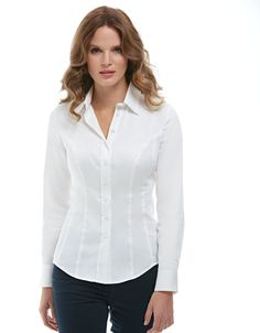 Classic Shirt in White by Pepperberry Tops