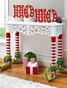 Give your entertaining decor a real leg up this holiday season with Katherine's Collection Elf Table Leg Covers.
