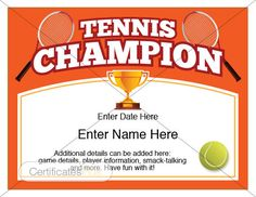 Free printable tennis certificates blank tennis certificate tennis anyone are you or a friend or family member into playing tennis award certificatescertificate templatesbackyard yadclub Images
